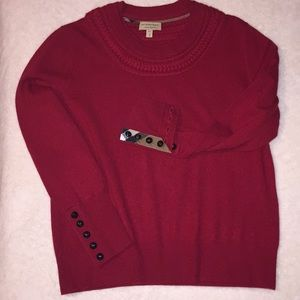 Burberry cashmere red sweater